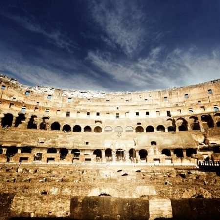 amazing view inside colosseum
