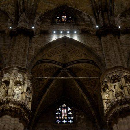 amazing view inside duomo milano