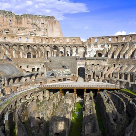 view with the colosseum arena