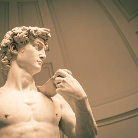 david inside accademia gallery