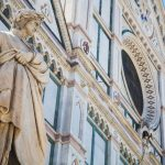 florence cathedral with statue